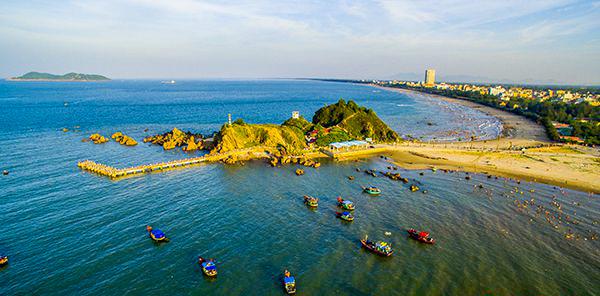 Đảo Lan Châu nhìn từ trên cao phía Bắc