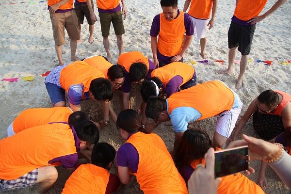 Hòa mình cùng không khí vui nhộn khi đi du lịch Cửa Lò và tham gia chương trình Team Biulding trên bãi biển