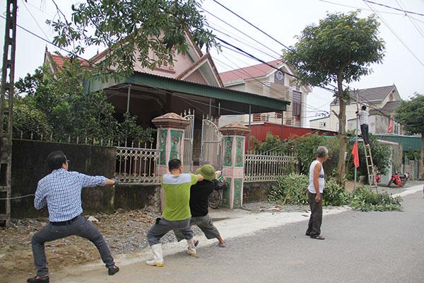 nhân dân kéo lại đường điện