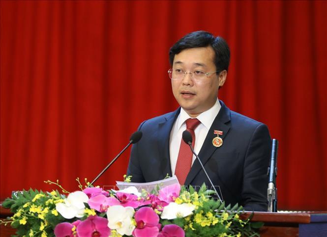 Bí thư Tỉnh ủy Đồng Tháp Lê Quốc Phong phát biểu hưởng ứng phong trào thi đua yêu nước.