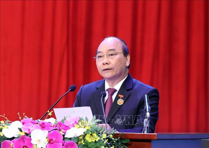 Thủ tướng Nguyễn Xuân Phúc, Chủ tịch Hội đồng Thi đua - Khen thưởng Trung ương phát biểu.
